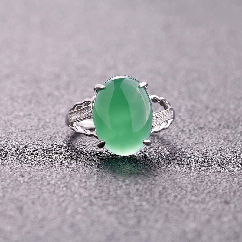 Oval-Chalcedony-Ring