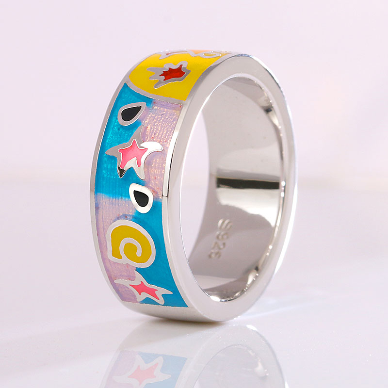 Colorful Transparent Ring