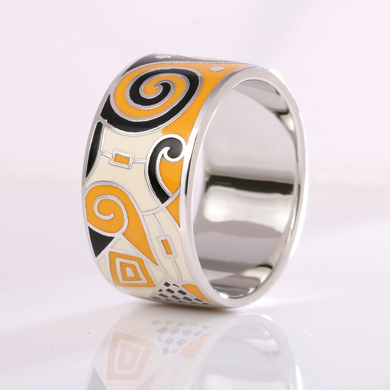 Female Stamp 925 Silver Ring